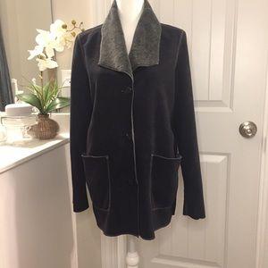 Double Sided Faux Sheepskin Coat Jacket Size M.